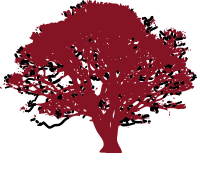 Logo of a red tree